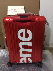 supreme suitcases red size 20 inch 26 inch $515-530
