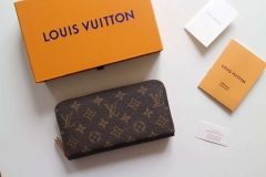 lv wallets real leather with box