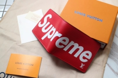 supreme x lv wallets real leather with box