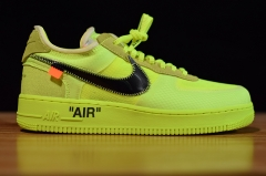 "Off-White x Nike Air Force 1 Low ""Volt"" 2.0"