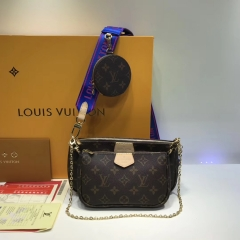 Lv M44823 bag 3 in 1 blue/pink/black strap