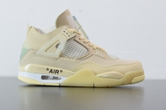 "Off-White™ x Air Jordan 4 Retro""Cream/Sail"""